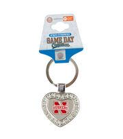 University of Nebraska Cornhuskers Heart Keychain, , hi-res