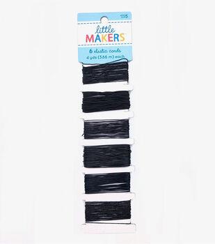 Little Makers 6 pk Elastic Cord Variety Pack-Black