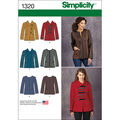 Simplicity Pattern 1320U5 16-18-20-2-Misses Jackets Coats