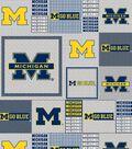 University of Michigan Wolverines Fleece Fabric 60\u0022-Gray Box