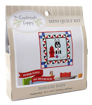 Sew Simple Handmade Happy Mini Quilt Kit-Doggie Days