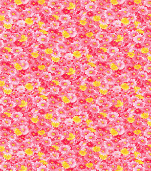 Keepsake Calico Cotton Fabric-Coral Packed Floral