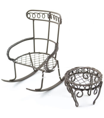 Midwest Design Mini Garden Rocking Chair & Round Table