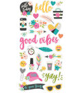 Simple Stories Good Vibes 31 pk Chipboard Stickers