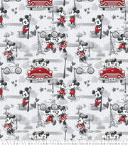 Disney Mickey and Minnie Fleece Fabric-Vintage Romance, , hi-res