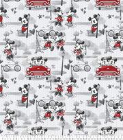 Disney Valentine's Day Mickey & Minnie Fleece Fabric-Vintage Romance, , hi-res
