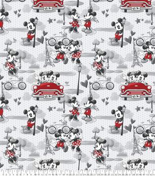 Disney Valentine's Day Mickey & Minnie Fleece Fabric-Vintage Romance