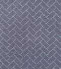 Demim Dark Wash Cotton Blend Fabric-Puched Rectangles