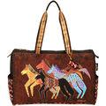 Laurel Burch Travel Bag Zipper Top 20.5\u0022x8.25\u0022x16\u0022-Native Horses