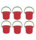 SI Manufacturing Large Red Bucket, Pack of 6