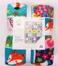 No Sew Fleece Throw 48\u0022-Flower Power Fox