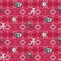University of Alabama Crimson Tide Flannel Fabric-Tie Dye