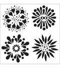 Crafter\u0027s Workshop Templates 6\u0022X6\u0022-Flowers