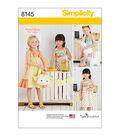 Simplicity Pattern 8145 Children\u0027s Apparel-Size A (3-4-5-6-7-8)