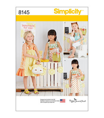 Simplicity Pattern 8145 Children's Apparel-Size A (3-4-5-6-7-8)