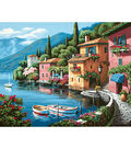 Dimensions Paint By Number Kit 20\u0022X16\u0022-Lakeside Village