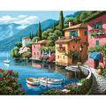 Dimensions Paint By Number Kit 20\u0022X16\u0022-Lakeside Village