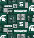 Michigan State Spartans Fleece Fabric-College Patch