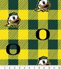 Oregon Ducks Fleece Fabric-Buffalo Plaid