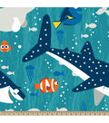 Finding Dory Fleece Fabric-Dory & Friends