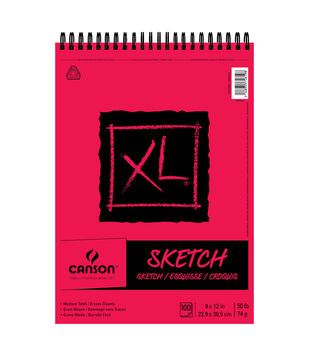 Canson XL Sketch 100-sheet 9''x12'' Paper Pad