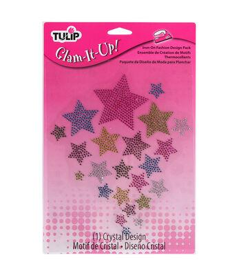 Tulip Glam-It-Up! Iron-On Fashion Designs Multi Stars