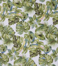 Anti-Pill Plush Fleece Fabric-Tropical Watercolor Leaves