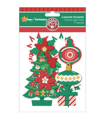25 Days Of Christmas Layered Accents 17/Pkg-