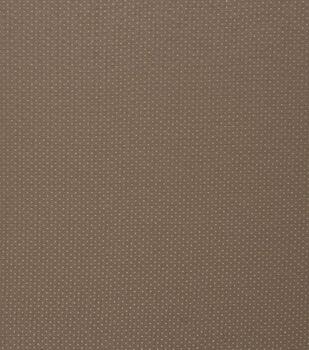 Harvest Cotton Fabric-Light Brown Dots Metallic