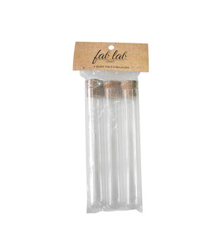 Fab Lab Craft 3 pk 0.86''x6.29'' Glass Vials with Corks