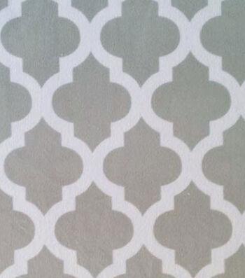 Soft N Comfy Fabric Greek Key Gray