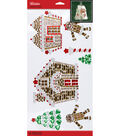 Jolee\u0027s Boutique Holiday Bling Stickers 4 pk-Gingerbread House