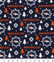 Christmas Denver Broncos Flannel Fabric-Holiday, , hi-res