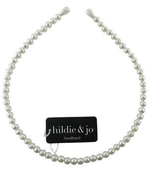 hildie & jo Round Pearl Beads Headband-Teardrop Pearl Beads Tips