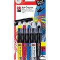 Marabu Mixed Media 5 pk Creative Art Crayons-Primary