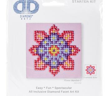 Diamond Dotz Diamond Embroidery Art Kit 4.75''X4.75''-Flower Mandala 2