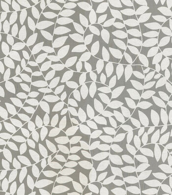 "Waverly Sheer Fabric 57""-Be Leaf Me Cream"