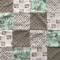 Nursery Cotton Blend Fabric -Be Brave Quilt Patchwork