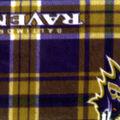 Baltimore Ravens Fleece Fabric -Plaid