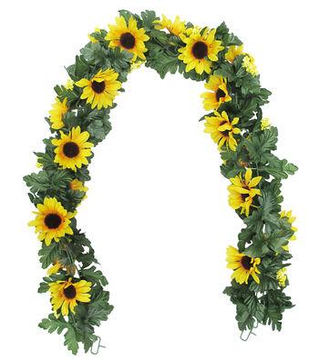Fresh Picked Spring 66'' Sunflower Chain Garland-Yellow