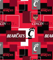 University of Cincinnati Bearcats Cotton Fabric 43''-Modern Block, , hi-res