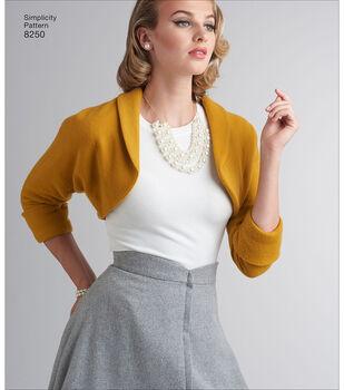 Simplicity Pattern 8250 Misses' Vintage Skirt & Bolero-Size U5 (16-24)