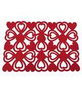 Valentine\u0027s Day Decor 19\u0027\u0027x13\u0027\u0027 Felt Heart Placemat-Red