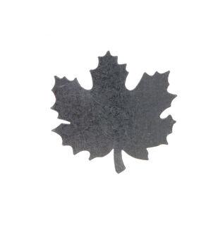 Simply Autumn Craft 3.4''x3.3'' Galvanized Maple Leaf Icon