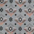 Luxe Fleece Fabric-Blush Gray Aztec