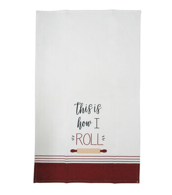 Simply Autumn Cotton Tip Towel-This is How I Roll
