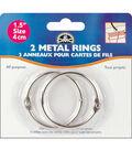 Metal Rings-1-1/2\u0022 2/Pkg