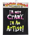 Attitude Artist Apron Black-Crazy Artist