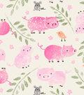 Snuggle Flannel Fabric-Little Piggys