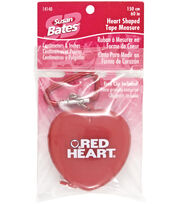 Susan Bates Heart Shaped Tape Measure, , hi-res